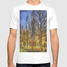 Greenwich Park London Art Mens Fitted Tee MEDIUM White