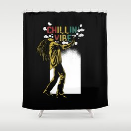 Chilling Vibe Shower Curtain