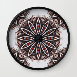 Boho Flower Wall Clock