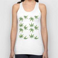 marijuana Tank Tops featuring Marijuana Leaves  by Limitless Design