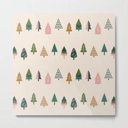 Christmas Trees (Highland) Metal Print