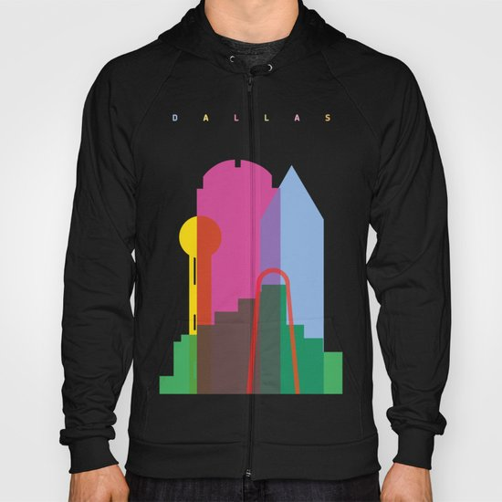 Shapes of Dallas. Accurate to scale. Hoody