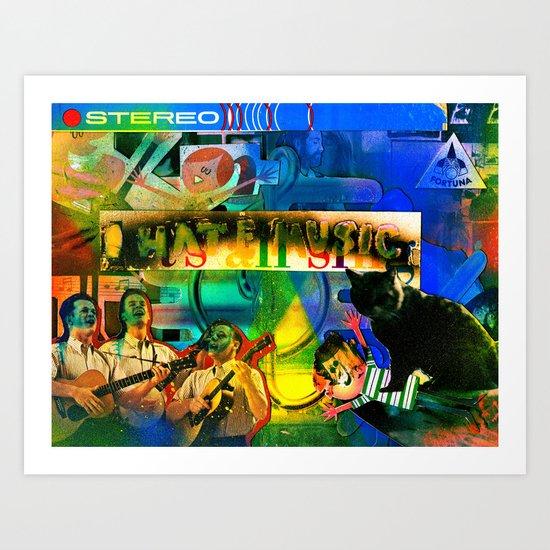 """I Hate Music"" by Cap Blackard Art Print"