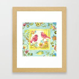 Lovebirds by Kimberly Hodges Framed Art Print