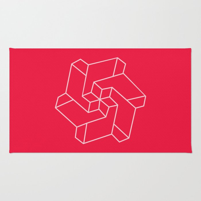 Minimal /  Chakra Symbol Art / Optical Illusion Star Rug