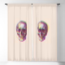 acid calavera Blackout Curtain