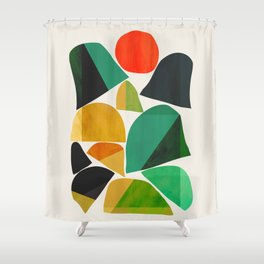 Mountains as the giants Shower Curtain
