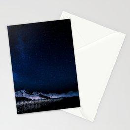Milky Way Night Mountain Landscape Stationery Cards