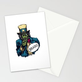 Brains Stationery Cards