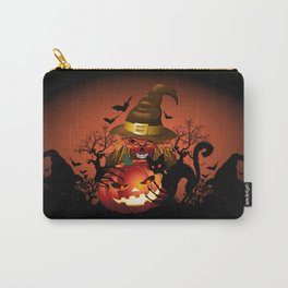 Skull Witch Creepy Halloween Carry-All Pouch