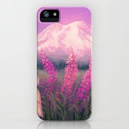 Sunset on Mount Rainier iPhone Case