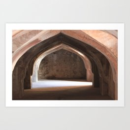 In the catacombs Art Print