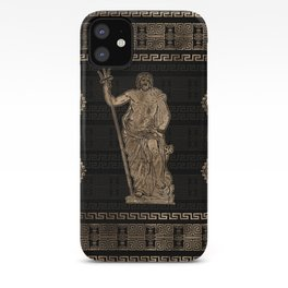 Poseidon and Greek Meander Ornament iPhone Case