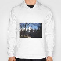 central park Hoodies featuring Central Park by Genevieve Moye