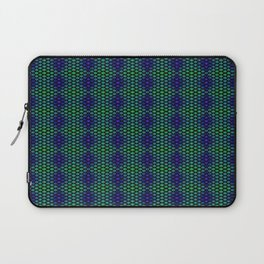 Snowflakes in Black, Green, and Blue Laptop Sleeve
