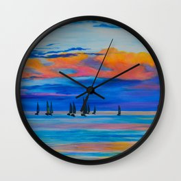 I'd Rather Be Sailing by Teresa Thompson Wall Clock
