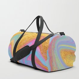 Candy Addict Colorful Marble Abstract Duffle Bag