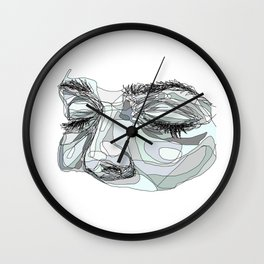 I'm waiting (blue) Wall Clock