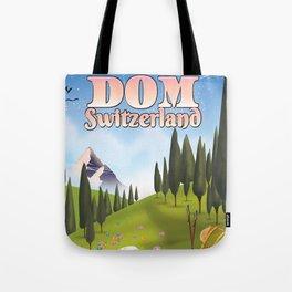 Dom Switzerland Landscape poster. Tote Bag