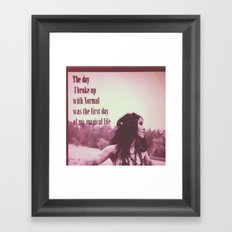 Break up with normal Framed Art Print