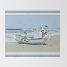 Avalon, Cooler by a Mile Throw Blanket
