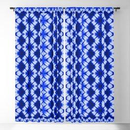 indigo shibori print Blackout Curtain