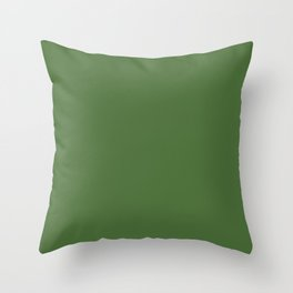 GRASS GREEN solid color Throw Pillow
