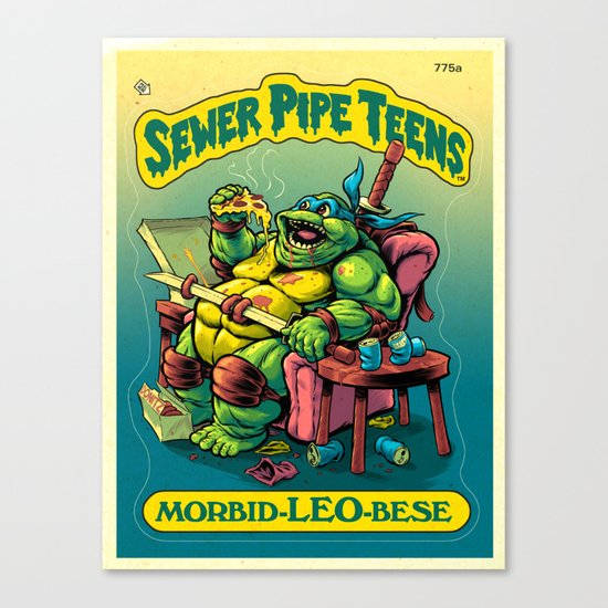SEWER PIPE TEENS: Morbid-LEO-bese Canvas Print