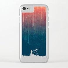 Meteor rain Clear iPhone Case