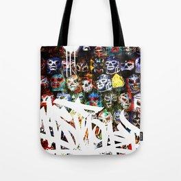 Graffiti Luchadores Tote Bag