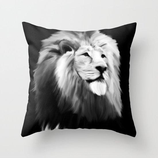 Leo king Throw Pillow