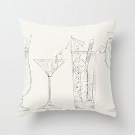 Summer Cocktails 2 Throw Pillow