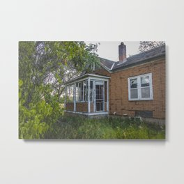 Abandoned House, Fort Clark, ND 3 Metal Print