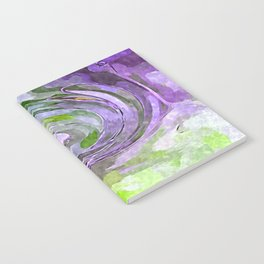 Abstract Waves watercolor abstract Notebook