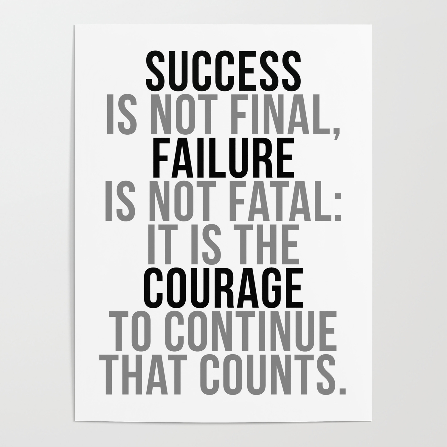 Success Is Not Final Office Decor Office Wall Art Office Art Office Gifts Poster By Motiposter Society6