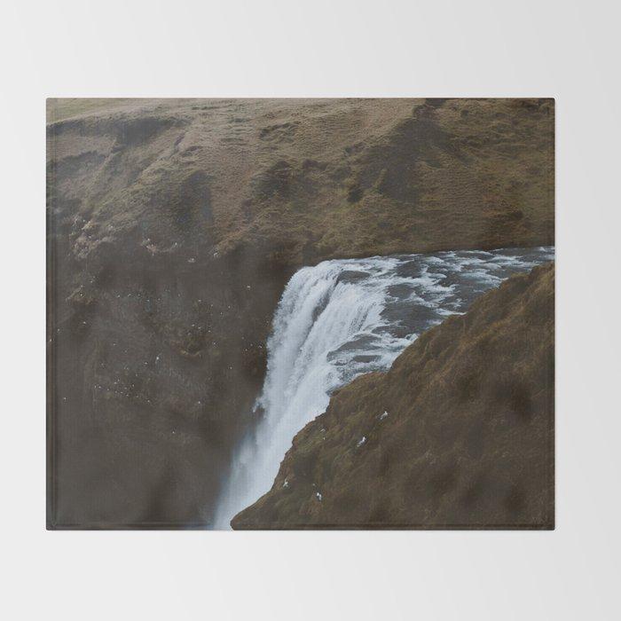Skogafoss Throw Blanket