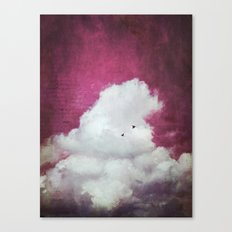 the cloud - bright red sky version Canvas Print