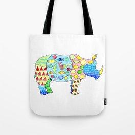 Rhino on Vacation Tote Bag