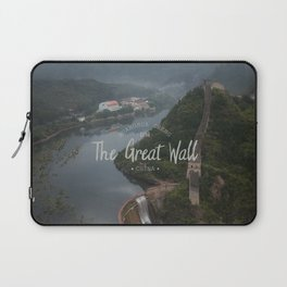 A different view of The Great Wall of China Laptop Sleeve