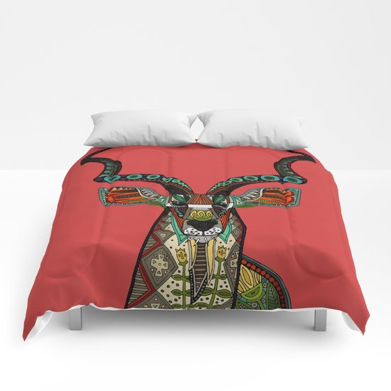 antelope red Comforters