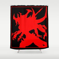 diablo Shower Curtains featuring Diablo - The Lord of Terror by jbrinkleyart