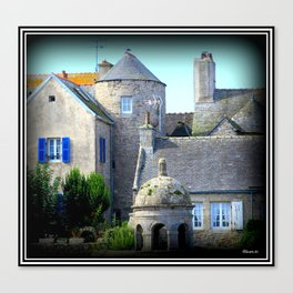 Roscoff Roofs Canvas Print