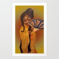 Egyptian Geisha Art Print