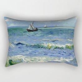 """Vincent Van Gogh """"The Sea at Les Saintes-Maries-de-la-Mer"""" Rectangular Pillow"""