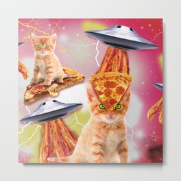 alien cats and the ufos Metal Print