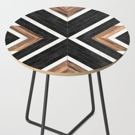 Urban Tribal Pattern No.1 - Concrete and Wood Side Table