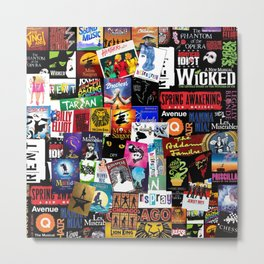 Musicals Collage Metal Print