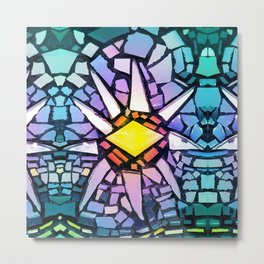 Mosaic Sun - Multicolored Tiles Metal Print