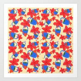 Buckets and spades Art Print
