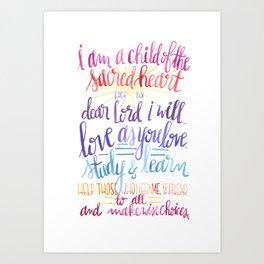 Child of the Sacred Heart Art Print
